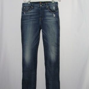 7 For All Mankind High Waist Vint Straight Jeans